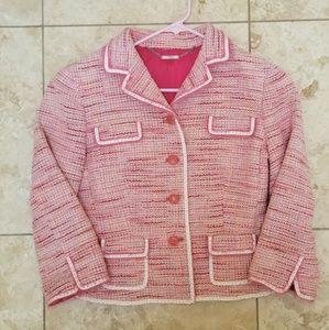 Elie Tahari pink tweed blazer